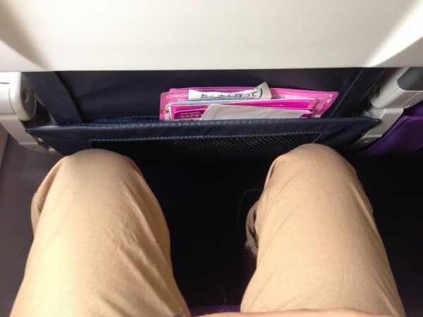ピーチの席は狭い・・・
